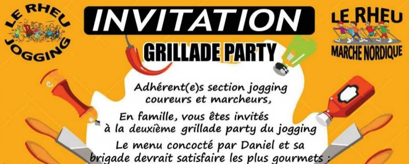 Invitation Grillade Party - 2018